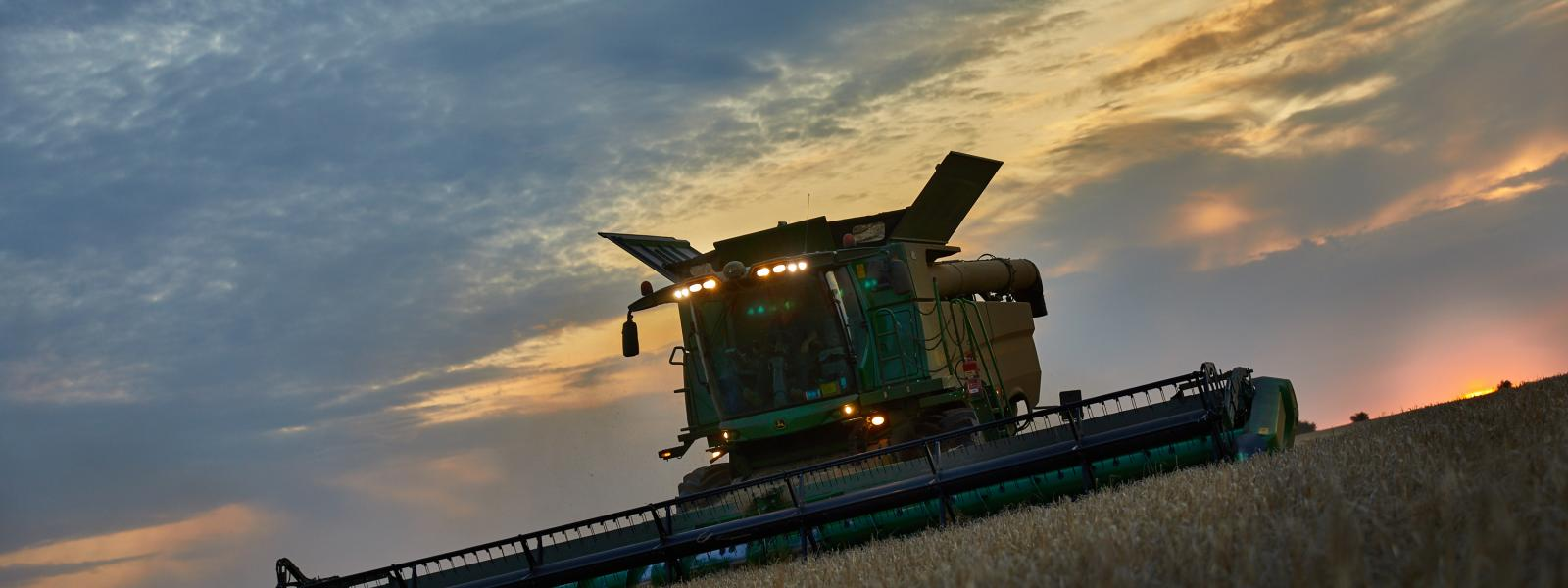 Combine at Night - August 2017